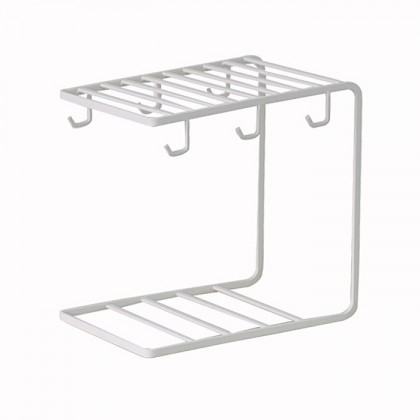 Iron Metal Coffee Cup Hanger Plate Storage Mug Cup Rack Organizer