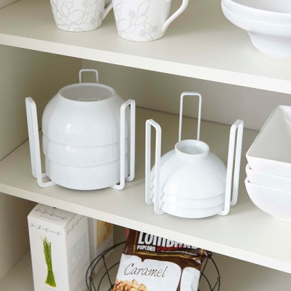 Iron Metal Dish Bowl Pot Lid Drying Stand Holder Rack