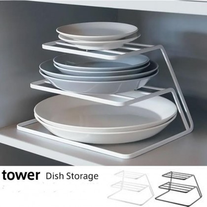 Iron Metal 3-layer Plate Dish Shelf Kitchen Storage Rack Organizer Nordic Style