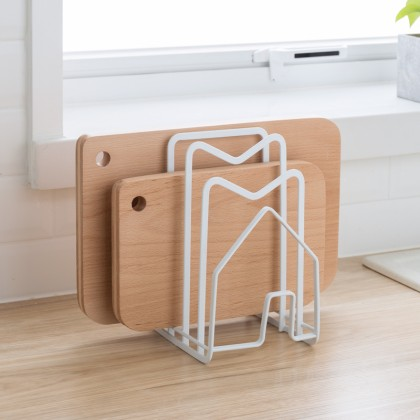 Iron Metal Block Multi Cutting Board Rack Tower Drying Stand Pot Lid Cover Holder Book Shelf Magazine Rack