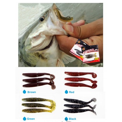 Spider King L004 100mm Soft Rubber Bait Lure Fishing Tackle Silicone 3pcs