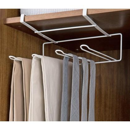 Iron Metal Cabinet Kitchen Tower Storage Rack Hanging Shelf Over Door Kitchen Storage Holder White