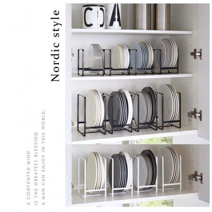 Iron Metal Plate Dish Shelf Kitchen Storage Rack Organizer Nordic Style