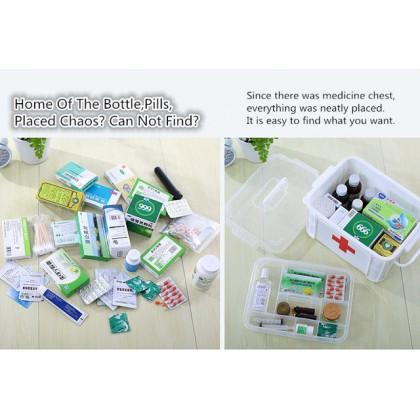 Multi-layered Family First Aid Kit Box Medicine Medical Storage Box Plastic Organizer