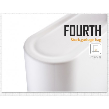 9L Pressing Type Plastic Trash Can Garbage Bin Waste Rubbish Dustbin Home Kitchen Household