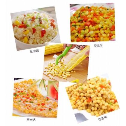 Corn Stripper Peeler Corn Surface Cleaning Brush Fruit Vegetable Peeler Stainless Steel Blade Kitchen Cooking Tool