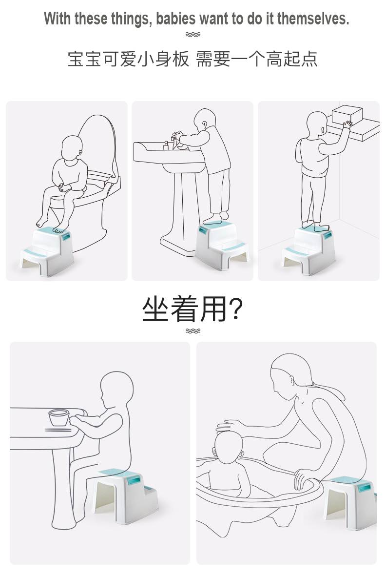 Superb Thick Plastic 2 Step Stool Kids Toddler Stool Toilet Potty Dailytribune Chair Design For Home Dailytribuneorg