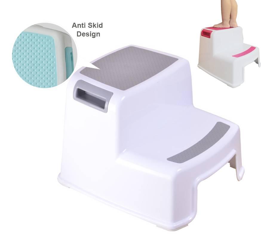 Enjoyable Thick Plastic 2 Step Stool Kids Toddler Stool Toilet Potty Dailytribune Chair Design For Home Dailytribuneorg
