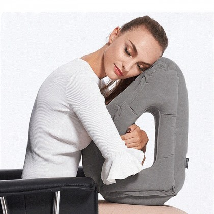 Inflatable Travel Pillow Air Soft Cushion Trip Portable Innovative Body Back Support Foldable Pillow