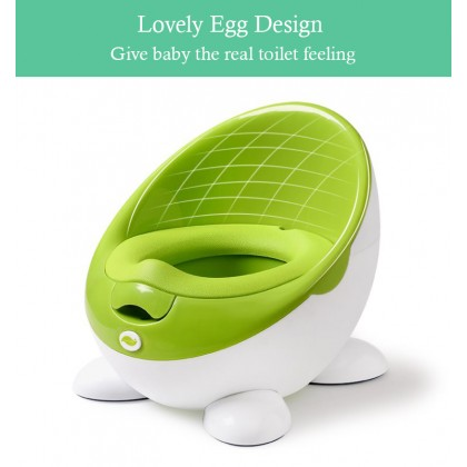 Baby Toilet Bowl And Seat Cute Egg Travel Pot Toilet Portable Training Boy Girls Child Potty