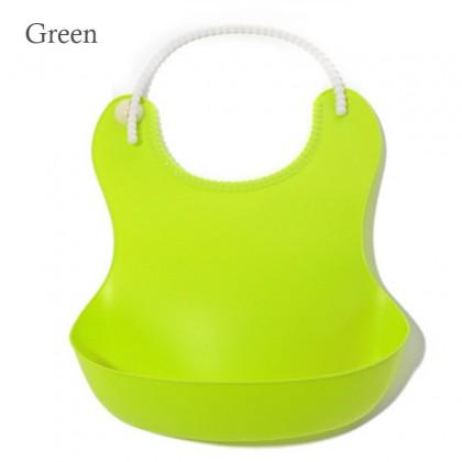 Soft Silicone Baby Waterproof  Bib Feeding Apron Children Feeding Accessories