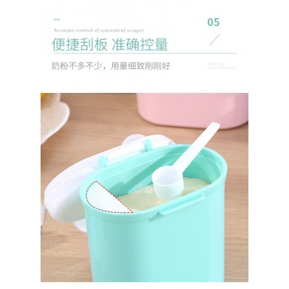 Portable Baby Milk Powder Layered Container Fruit Storage Box With Spoon
