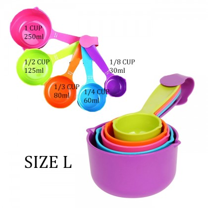 Colourful 5pcs Kitchen Measuring Spoon Measuring Cup Cup Baking Tool Bake Pastry Utensil