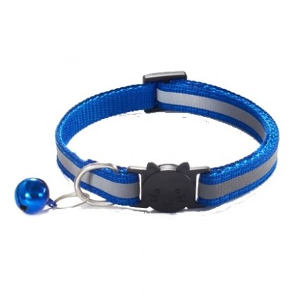 Reflective Breakaway Adjustable Pet Cat Dog Kitten Kitty Puppy Collar Nylon Fabric With Bell Neck Strap Chain Collar Necklace