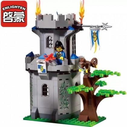 Enlighten 1019 Medieval Lion Castle Knight Carriage Building Blocks Sets Model 262 Bricks Kids Toys