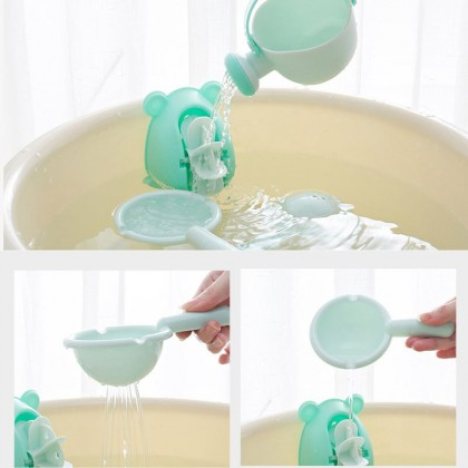 Baby Spoon Shower Bath Water Swimming Bailer Shampoo Cup Beach Toys set 4pcs Watering Baby Toys Shower