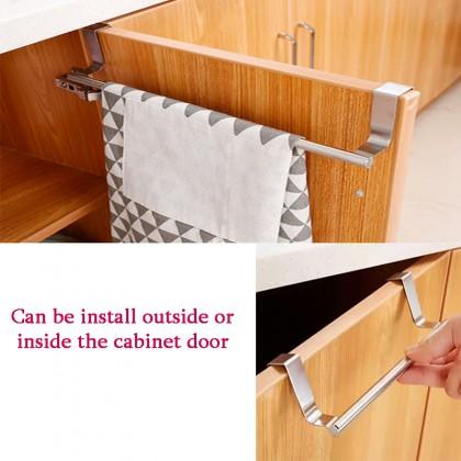 Stainless Steel Cabinet Towel Cloth Gloves Hanger Over Door Drawer Hook Kitchen