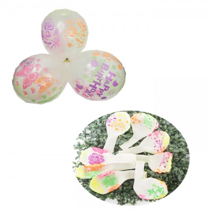 20pcs 12inch Transparent Balloons Latex Pattern Stars Flora Butterfly Balloon Party Decoration