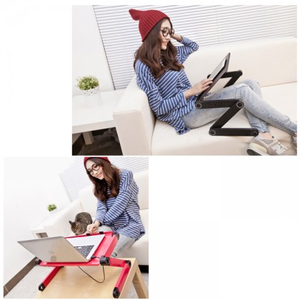 Aluminium Alloy 360° Adjustable Portable Folding Laptop Desk Computer Table Stand Tray