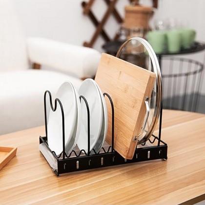 Iron Metal Bowl Butterfly Rack Waterlogging Dish Pot Lid Drying Rack Drainer Dryer Tray Tableware Holder Organizer