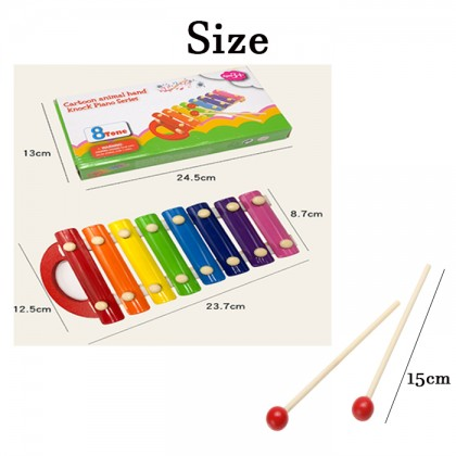 Y00622 Eight-scale percussion On Xylophone Wooden Enlightenment Infant Music Toys Development Of Hearing and Attention For Children