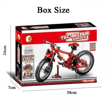 SEMBO Block 703302 TECHNIC Series 306PCS Tandem Bicycle Sets Building Blocks Bricks Mountain Bike Model Building Kits