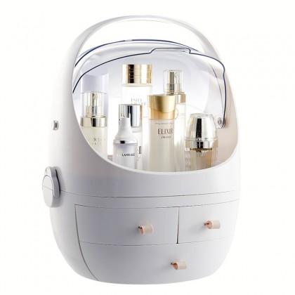 Dust-proof Makeup Storage Box Dressing Table Desktop Cosmetics Box Brush Lipstick