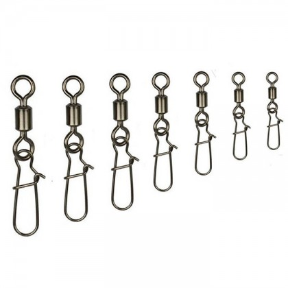 5pcs/pkt Spider King Rolling Swivels Fast Look Snap