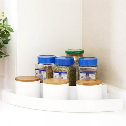 3 TiercKitchen Corner Frame Spice Storage Rack Condiment Seasoning Shelf Storage