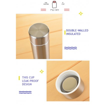 450ml 304 Stainless Steel Sport Water Sport Bottle Vacuum Thermos Flask