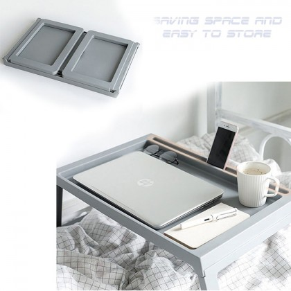 Portable Plastic Foldable Laptop Table Creative Folding Computer Desk Bed Studying Table