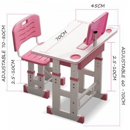 Children Learning Table Desk Writing Table and Chair Set Kid Writing Desk
