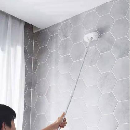 Extendable Telescopic Tub Toilet Floor Tile Corner Rotation Brush Scrubber