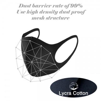 Adult Children Washable Breathable Reusable Anti Haze Face Shield Wind Face Mask /1pcs