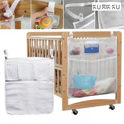 Baby Crib Cot Bedside Hanging Storage Bag Diaper Nappy Clothes Utility Organizer