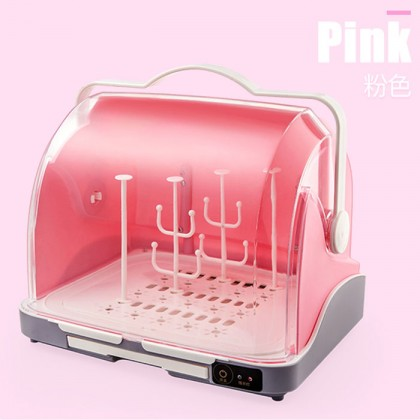 2 In 1 Baby Milk Bottle Led UV Light Sterilizer Dryer Storage Box With Handle