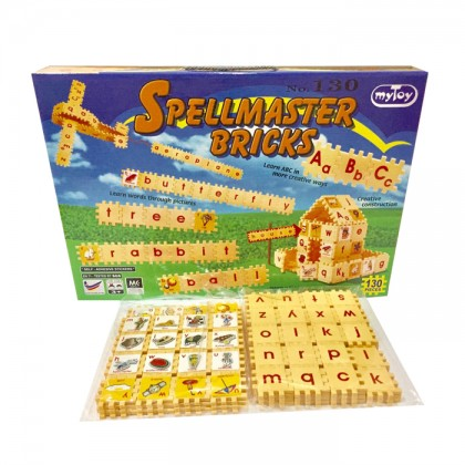 Spellmaster Bricks 130pcs Learning Puzzle