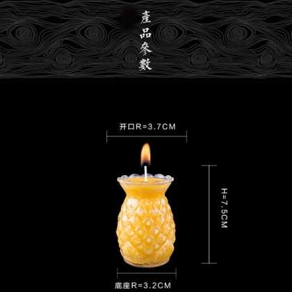 24 Hours Natural Smoke Free Pineapple Butter Lamp 2pcs/box (24小时无烟无毒纯天然酥油黄梨酥油灯)