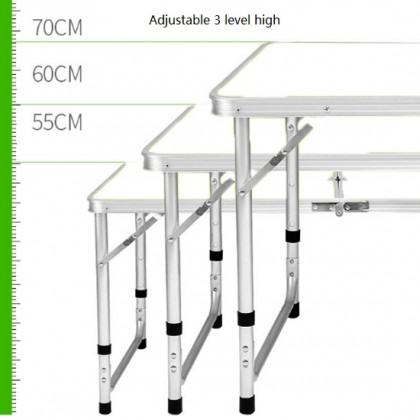 Portable Foldable Aluminium Table Camping Outdoor Fishing Table (120x60cm)
