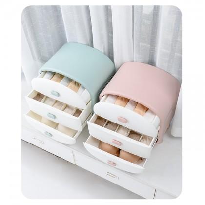 3 Drawers Storage Box for Sock and Underwear Tudung Scarf Shawl Organizer Drawer Cabinet Woman Wardrobe