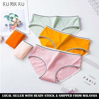Comfort Cotton Colourful Panties Women Simple Fashion Underwear
