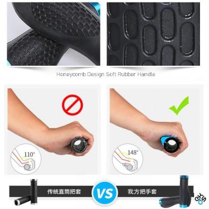 Anti Slip Ergonomic Bicycle Handle Bar Grip Protector With Aluminium Lock For Bicycle Mountain Bike Road Bike Folding Bike (1pair)