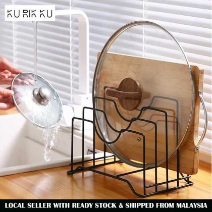 Multifunctional Pot Lid Rack Holder Storage Organizer Kitchen Cookware Chopping Board Pan Lid Cover Cabinet Pantry Holder bookshelve