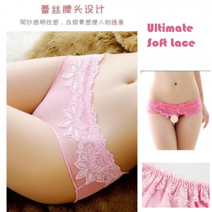 3019 Women Panties Lace Thong Crotch Panties G-String Sexy Underwear Breathable Lingerie Bikini