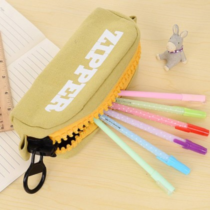 Korea Design Creative Large Zipper Pencil Case