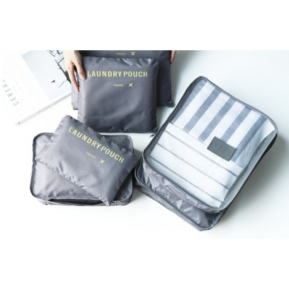 Monopoly Travel 6 IN 1 Luggage Packing Organizer Bag Pouch
