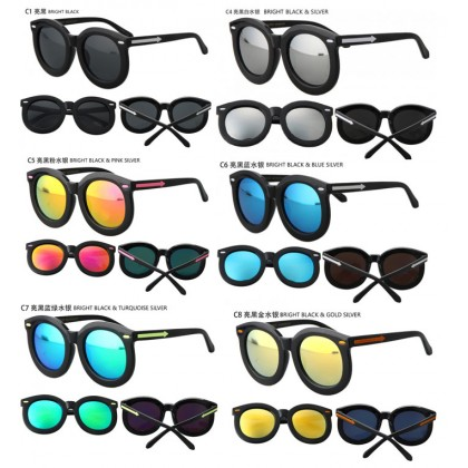 Super Star Large Oversize Round Sunglasses With Case 97009