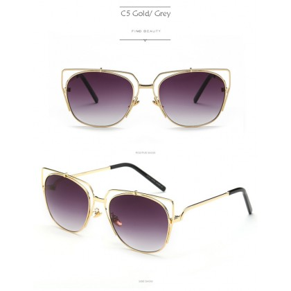 97210 Korea Design Metal Woman Sunglasses