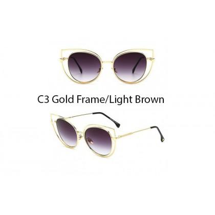 Korea Latest Design Metal Sunglasses 97242