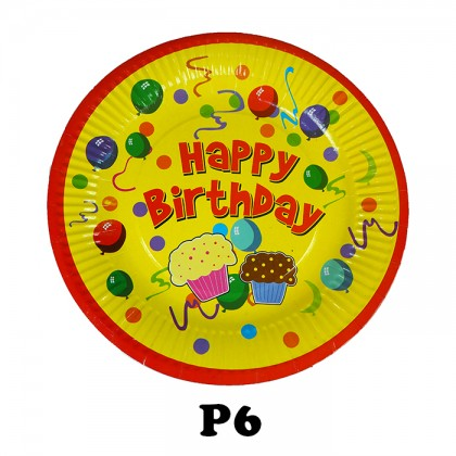 Birthday Party Paper Plates 9 inch (20pcs)